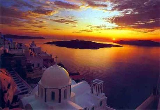 santorini-the-sunset
